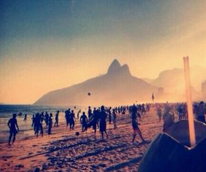 beach, rio, and brasil image