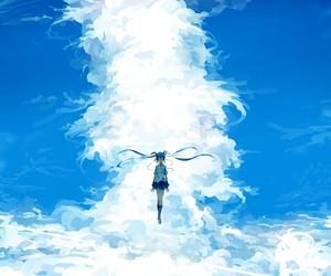 hatsune miku, sky, and vocaloid image