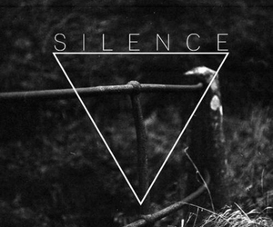 silence, triangle, and black and white image