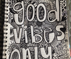 doodle, vibes, and good vibes only image