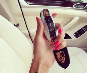 car, porsche, and nails image