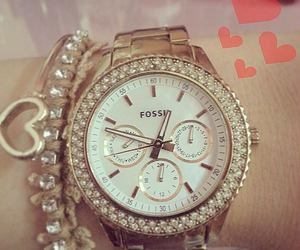 diamonds, watch, and fossil image