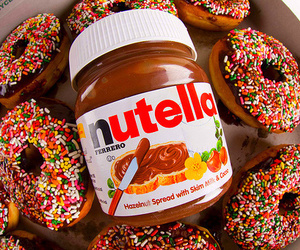 nutella, food, and donuts image