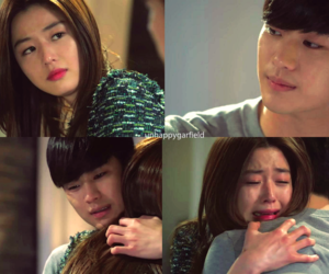 cry, hug, and kdrama image