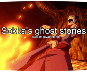 avatar, fire, and ghost stories image