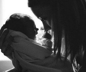 babe, black and white, and infant image