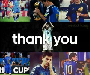 messi, argentina, and thank you image