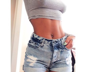 belly, sexy, and fit image