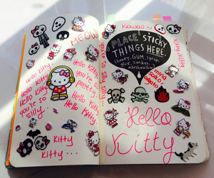 Avril, hello kitty, and wreck this journal image