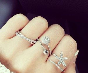 girl, jewelry, and ring image