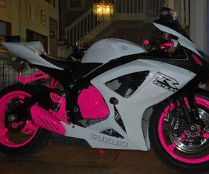pink, bike, and motorbike image