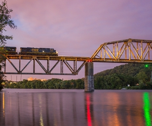 bridge, knoxville, and railroad image