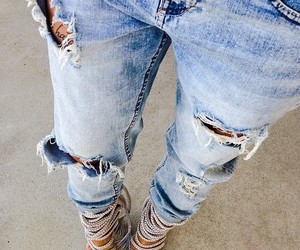 heels, jeans, and love image