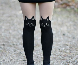black, fashion, and cats image