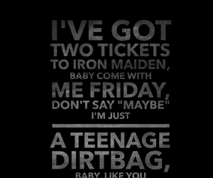 quote, song, and teenage dirtbag image