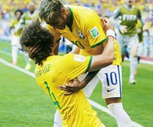 neymar, david luiz, and brazil image