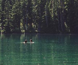 lake, nature, and water image