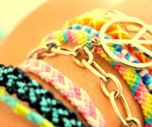 bracelet, peace, and summer image