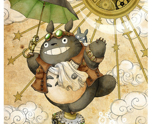 totoro, steampunk, and studio ghibli image