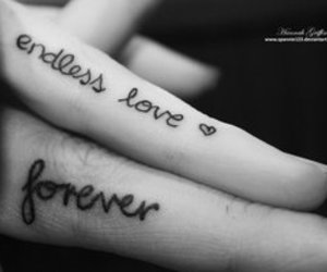 tattoo, love, and forever image