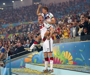brazil soccer, thomas mueller, and per mertesacker image