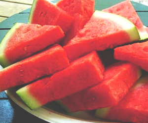 summer, watermelon, and red image
