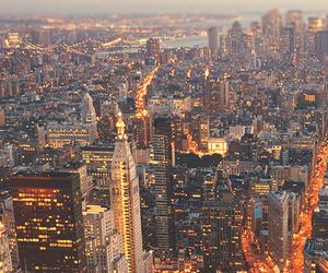 city, light, and new york image