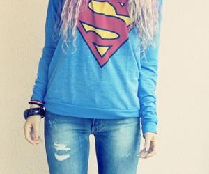 superman, fashion, and girl image