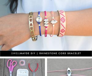bracelet, rhinestone, and tutorial image