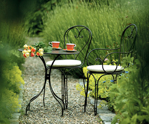 coffe, garden, and flowers image