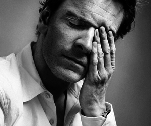 black and white and michael fassbender image