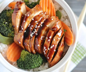 Chicken, teriyaki, and japanese image