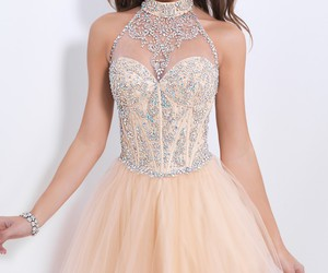 dress and champagne image
