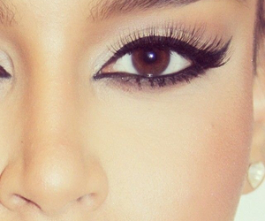 beauty, brown eyes, and eye image