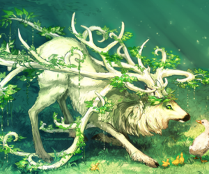 nature, fantasy, and deer image