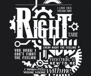 Lyrics, right now, and one direction image
