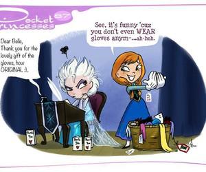 disney, pocket princesses, and elsa image