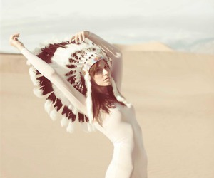 girl, indian, and desert image