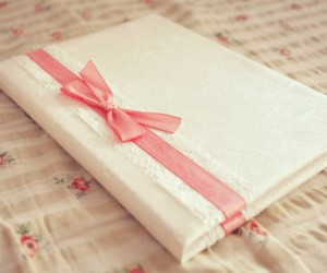book, pink, and ribbon image