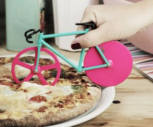 pizza, bicycle, and pink image