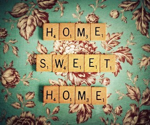 home, sweet, and scrabble image