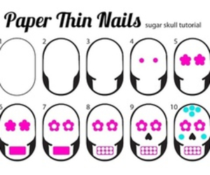 nails, skull, and tutorial image