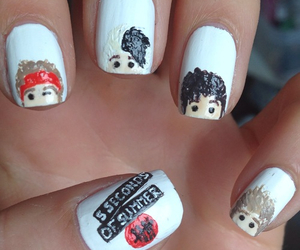 5sos, nails, and 5 seconds of summer image