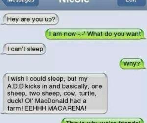 funny, sleep, and hilarious image