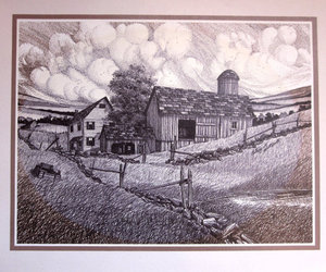 art, barn, and country image