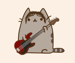 arctic monkeys and pusheen the cat image