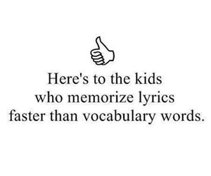 fast, song, and vocabulary image