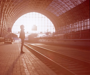 photography and train station image