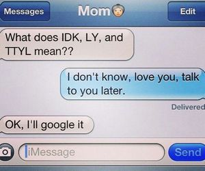 funny, message, and mom image