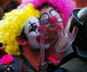 clown, kiss, and funny image